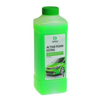 """GRASS/ Автошампунь для бесконтактной мойки """"Active foam extra"""" 1л (зеленый)"""
