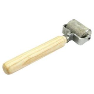 STP/ Прикаточный металлический валик с деревянной ручкой, большой