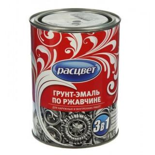 РАСЦВЕТ/ Грунт-эмаль 3 в 1 по ржавчине алкидная,0,9 кг белая
