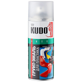 KUDO/ KU-6000 Грунт для пластика, прозрачный, аэрозоль 520мл