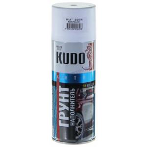 KUDO/ KU-2204 Грунт - наполнитель акриловый, белый, аэрозоль 520мл