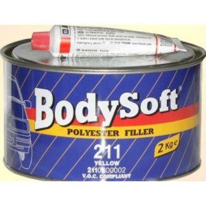 BODY/ 211 SOFT Шпатлевка полиэфирная, мелкозернистая, светло-желтая, 2кг