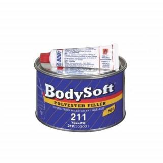 BODY/ 211 SOFT Шпатлевка полиэфирная, светло-желтая, 0,38кг банка синяя