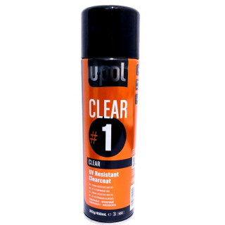 U-POL/ Clear Лак UV устойчивый с высоким глянцем,аэрозоль, 450мл