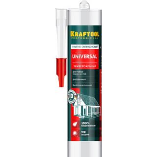 KRAFTOOL/ Герметик силиконовый белый, универсальный, 300мл