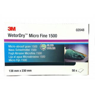 3М/ P1500 Micro Fine Наждачная бумага, водостойкая, 138х230мм (50шт/уп) цена за 1шт