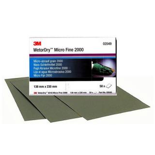 3М/ P2000 Micro Fine Наждачная бумага, водостойкая, 138х230мм (50шт/уп) цена за 1шт