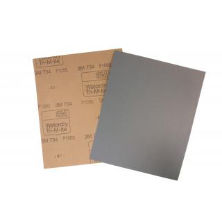 3M/ Р1000 Водостойкая бумага 734,лист 230х280,карбид кремния