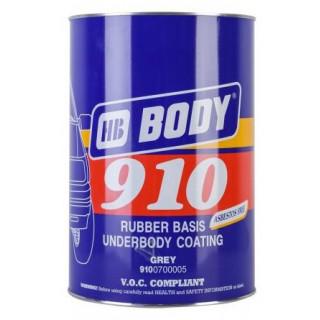 BODY/ 910 Мастика на основе каучука и синтетических смол (серая) 1кг