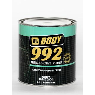 BODY/ 992 Алкидный антикоррозионный грунт 1К (серый) 1л