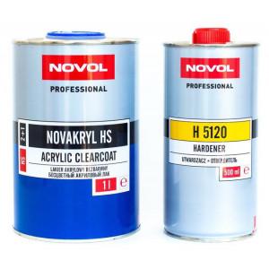 NOVOL/ 2+1 Лак NOVOAKRYL HS Бесцветный акриловый лак, комплект 1+0.5л (отв. Н5120), Польша