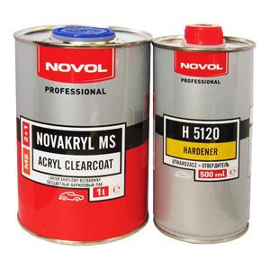 NOVOL/ 2+1 Лак NOVOAKRYL MS Бесцветный акриловый лак, комплект 1+0.5л (отв. Н5120), Польша