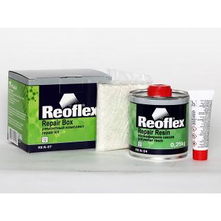 REOFLEX/ Ремкомплект для пластика (смола/стекломат/отв.) 0,25кг+0,25м+0,015гр