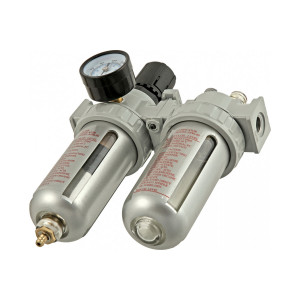 VOYLET/ AFRL-80 Фильтр-влагоотделитель с регулятором давления + манометр+лубрикатор
