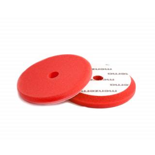Сверхпрочный поролоновый полировальный диск красный диаметр 130/150 мм (velcro)
